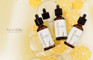 Sérum facial com vitamina C da Nanoil. Aclara, uniformiza, revitaliza!